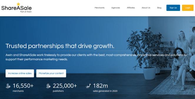 réseau de marketing d'affiliation shareasale