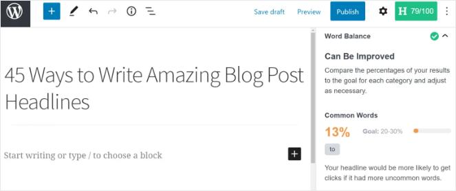 headline analyzer suggestions