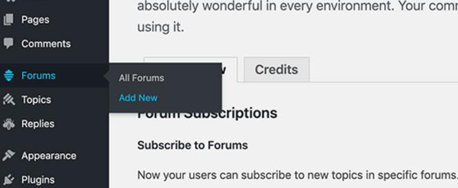 ajouter un nouveau forum
