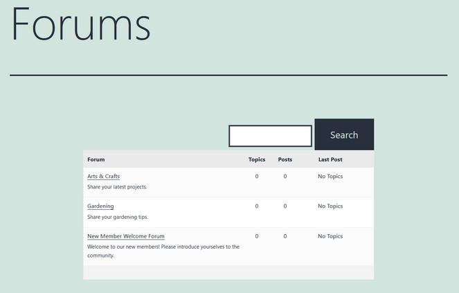 exemple de forum créé avec bbpress