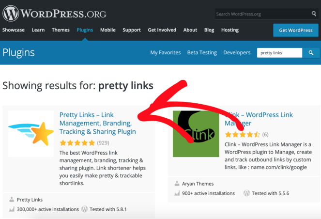 pretty links free URL shortener